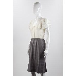 Vestido Dior com top cinza e bege