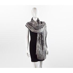 Lenço Louis Vuitton cashmere & seda B&W zebra