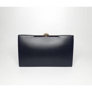 Clutch Christian Dior Couro Preta
