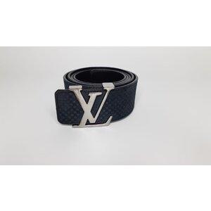 Cinto Louis Vuitton Camurça Azul Marinho