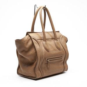 Bolsa Celine Luggage M Couro Bege