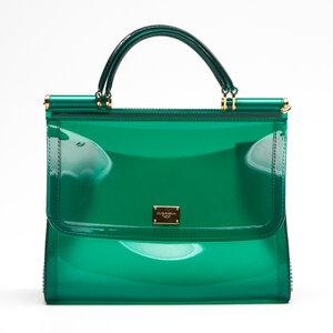 Bolsa Dolce & Gabbana Sicily em PVC Verde