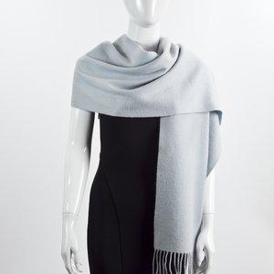 Cachecol Pure Cashmere lã azul