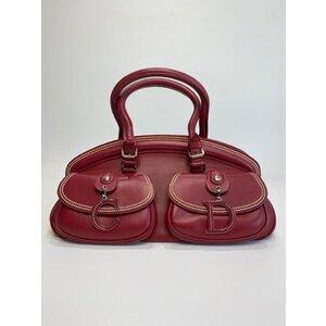 Bolsa Christian dior Dior Medium Detective em Couro Vermelha