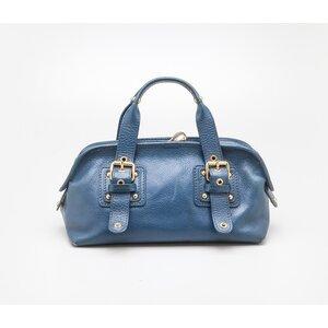 Bolsa Marc Jacobs em couro azul