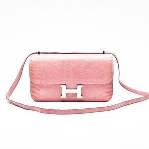 Bolsa Hermès Constance Elan em Lizard rosa