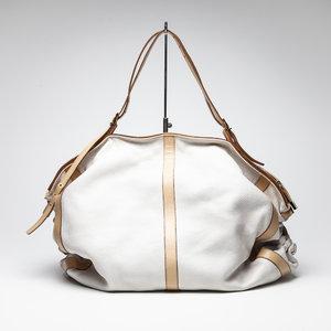 Bolsa Versace em couro branca