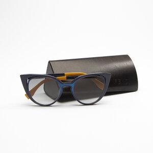 Óculos Fendi Acetato Preto/Azul