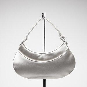 Mini bolsa Judith Leiber em off white