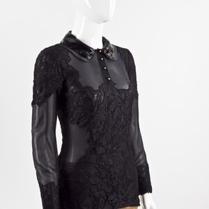 Camisa Pucci preto em renda e musseline