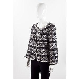 Blazer Chanel em tweed B&W