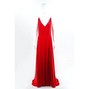 Vestido Longo Dior Crepe Vermelho
