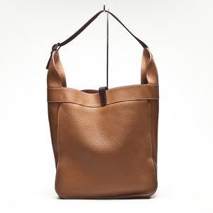 Bolsa Hermès em couro caramelo