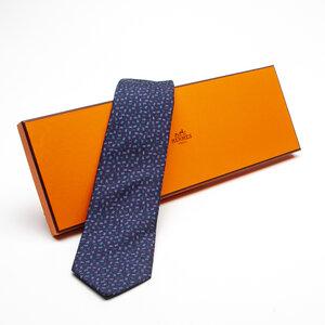 Gravata Hermès Seda Azul e Verde