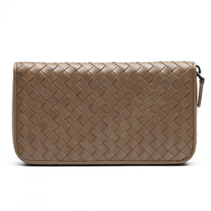 Carteira Bottega Veneta Intrecciato Leather Caramelo