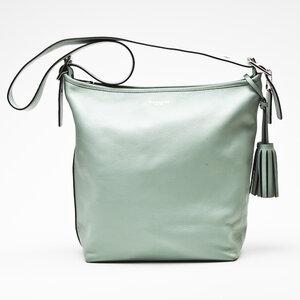 Bolsa Coach em couro verde claro