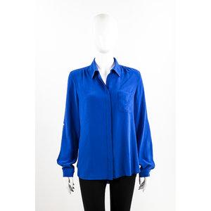 Camisa Dvf Seda Azul Bic