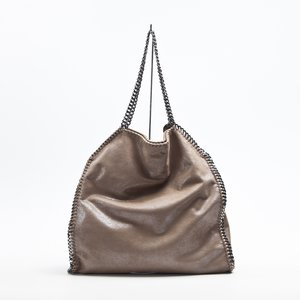 Bolsa Stella McCartney large shaggy falabella bege
