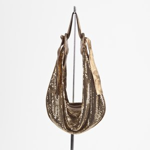 Bolsa Chloé chainmil hobo metal/couro dourada