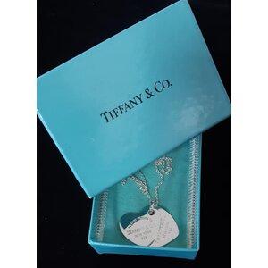 Pendente Tiffany & Co Coração Dulpo Return em prata de lei 925