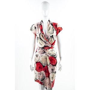 Vestido Moshino Seda Estampa Em Rosa