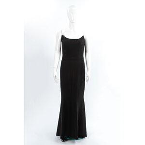 Vestido Longo Dior em crepe Preto