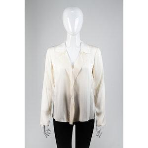 Camisa Elie Tahari em Seda na cor Creme