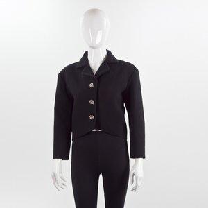 Blazer Balenciaga em crepe preto