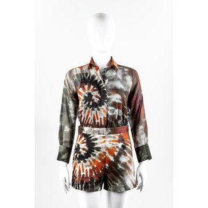 Camisa e Short Valentino Seda Estampado