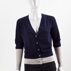 Cardigan See By Chloe azul marinho em cashmere