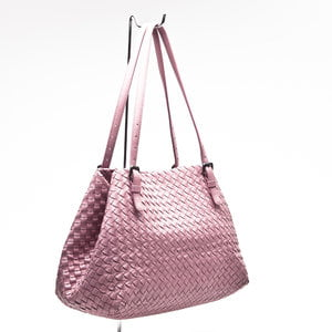 Bolsa Bottega Veneta Intrecciato Leather em rosée