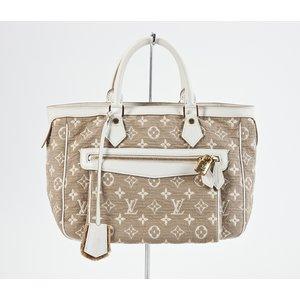 Bolsa Louis Vuitton sabbia cabas bege e branco
