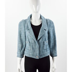Blazer Chanel tweed azul