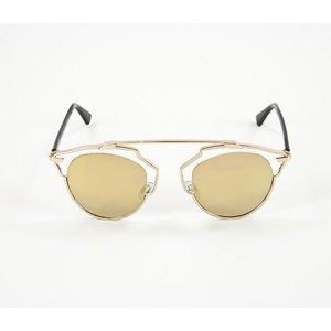 Óculos Dior espelhado dourado
