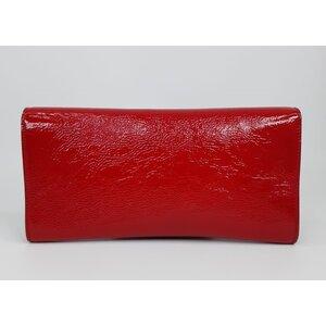 Clutch Yves Saint Laurent Belle Dujour Verniz Vermelha