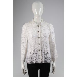 Blazer Dolce & Gabbana em Guipir Branco