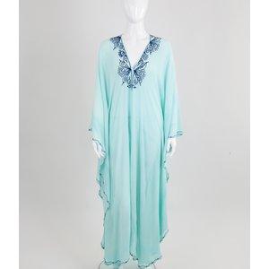 Caftan Nour longo azul