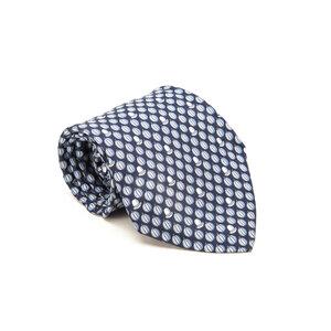 Gravata Hermès Seda Estampada em Tons de Azul