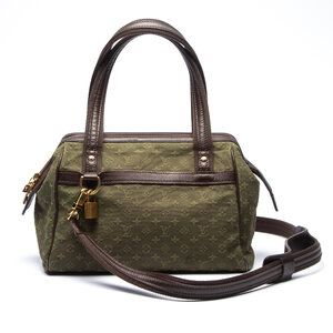 Bolsa Louis Vuitton Mini Lin Josephine PM Verde Musgo