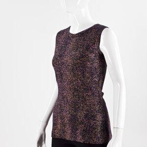Top Dior sem manga rosa e azul marinho
