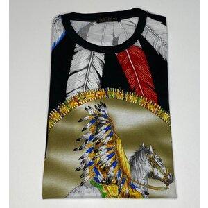 T-Shirt Versace Cotton Estampada com Cavalo