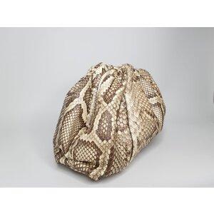 Bolsa Bottega Veneta Pouch Python Natural