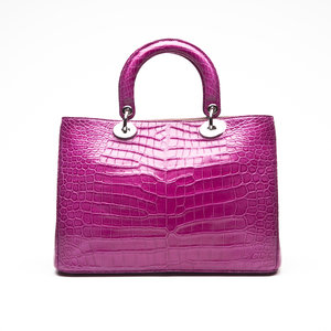 Bolsa Dior Diorissimo Croco Pink
