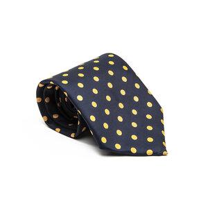 Gravata Ralph Lauren em seda azul e amarelo