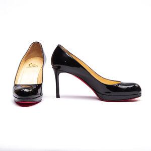 Sapato C.Louboutin em Verniz Preto