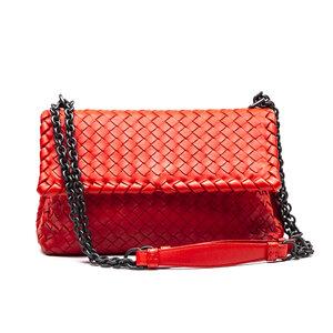 Bolsa Bottega Veneta Intrecciato Leather Coral