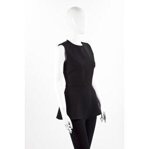Top Dior em crepe preto