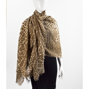 Lenço YSL em cashmere & seda animal print