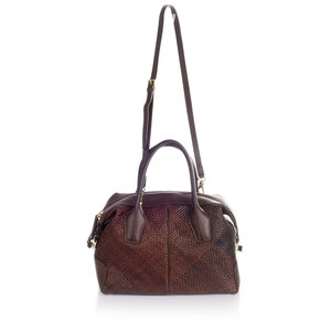 Bolsa Tod´s Woven Leather em couro marrom