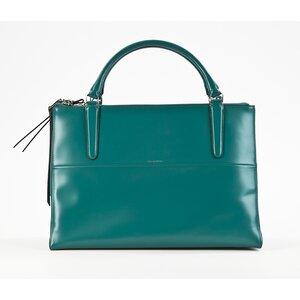 Bolsa Coach em couro verde